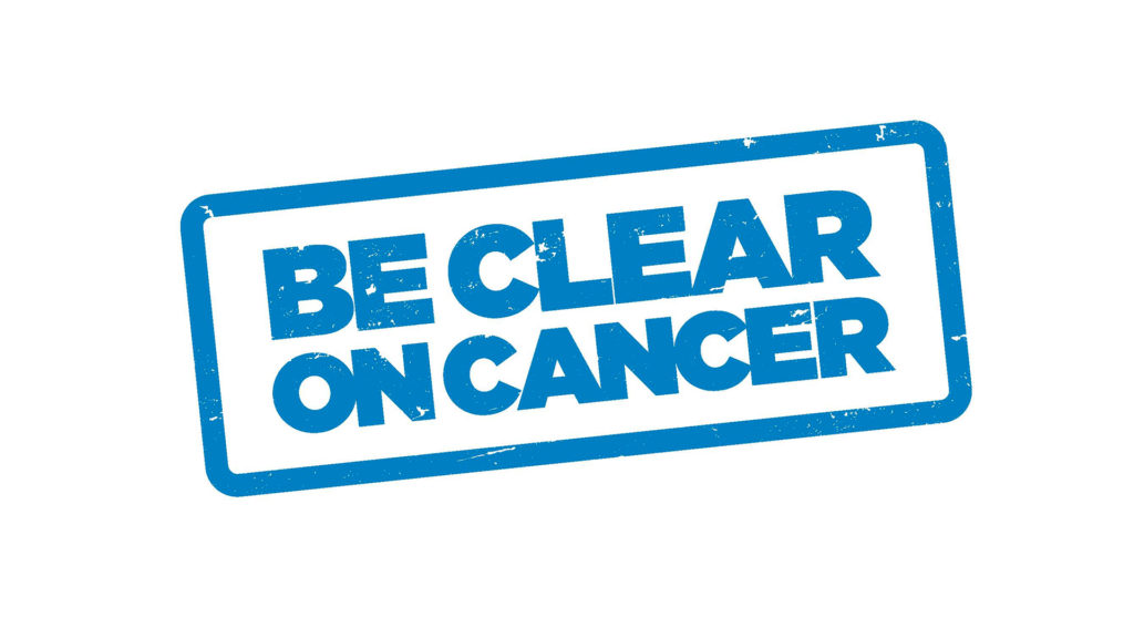 Be Clear on Cancer respiratory campaign