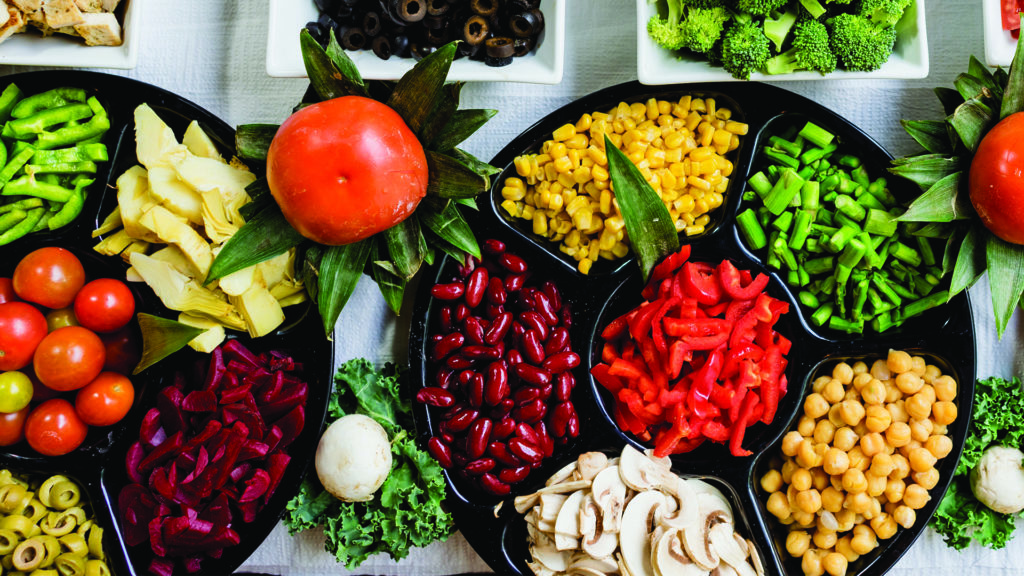 Eating fresh fruit and vegetables can help ease constipation