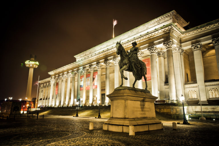 St Georges Hall at night