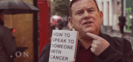 Charity partners with comedian to break down lung cancer taboo